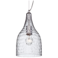 EuroFase 22903-013 Altima 1 Light 7 inch Chrome Pendant Ceiling Light in Clear Small