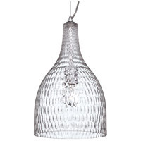EuroFase 22904-010 Altima 1 Light 10 inch Chrome Pendant Ceiling Light in Clear, Large