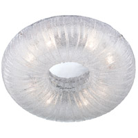 EuroFase 22937-018 Spectra 8 Light 24 inch Clear Flush Mount Ceiling Light