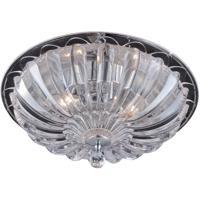 EuroFase 22943-019 Vintage 3 Light 14 inch Chrome Flush Mount Ceiling Light