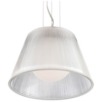 EuroFase 23067-011 Ribo 1 Light 13 inch Chrome Pendant Ceiling Light in Clear Small