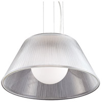 EuroFase 23068-018 Ribo 1 Light 20 inch Chrome Pendant Ceiling Light in Clear Large
