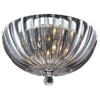 Aurora 2 Light 12 inch Polished Chrome Flush Mount Ceiling Light