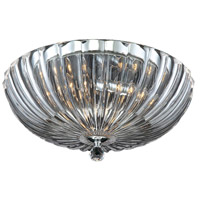EuroFase 23223-011 Aurora 3 Light 16 inch Chrome Flush Mount Ceiling Light