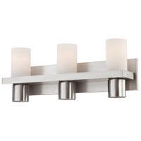 Pillar 3 Light 20 inch Brushed Nickel Bath Bar Wall Light
