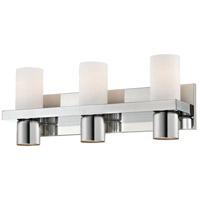 EuroFase 23278-035 Pillar 3 Light 20 inch Chrome Vanity Light Wall Light