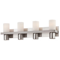 Pillar 4 Light 28 inch Brushed Nickel Bath Bar Wall Light