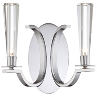 Cromo 2 Light 11 inch Polished Chrome Wall Sconce Wall Light
