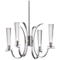 EuroFase Polished Chrome Glass Cromo Chandeliers