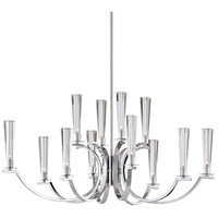 EuroFase 25636-017 Cromo 12 Light 22 inch Polished Chrome Chandelier Ceiling Light