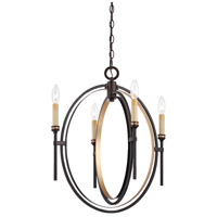 Infinity 4 Light 19 inch Oil Rubbed Bronze Chandelier Ceiling Light