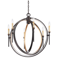 EuroFase 25647-013 Infinity 6 Light 27 inch Oil Rubbed Bronze Chandelier Ceiling Light photo thumbnail