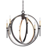 EuroFase 25647-013 Infinity 6 Light 27 inch Oil Rubbed Bronze Chandelier Ceiling Light