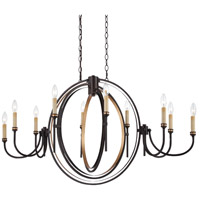 Infinity 10 Light 21 inch Oil Rubbed Bronze Chandelier Ceiling Light