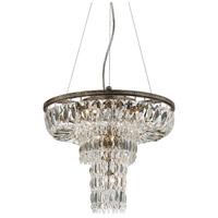 EuroFase 25649-017 Rosalia 9 Light 16 inch Antique Silver Pendant Ceiling Light