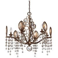 EuroFase 25655-018 Capri 6 Light 26 inch Bronze Chandelier Ceiling Light
