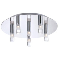 EuroFase Chrome Glass Flush Mounts