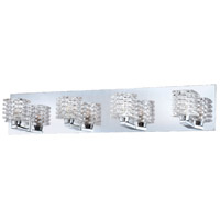 Lenza 4 Light 27 inch Chrome Bath Bar Wall Light