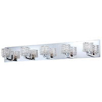 Lenza 5 Light 34 inch Chrome Bath Bar Wall Light