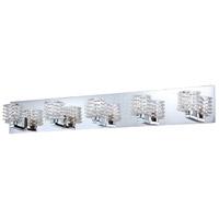 EuroFase 25725-018 Lenza 5 Light 34 inch Chrome Vanity Light Wall Light