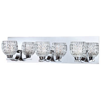 Wave 3 Light 20 inch Chrome Bath Bar Wall Light