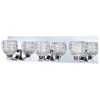 EuroFase 25728-019 Wave 3 Light 20 inch Chrome Vanity Light Wall Light