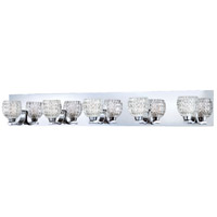 Wave 5 Light 34 inch Chrome Bath Bar Wall Light