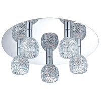 EuroFase 25731-019 Wave 5 Light 16 inch Chrome Flush Mount Ceiling Light
