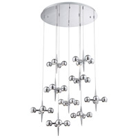 Pearla LED 40 inch Chrome Chandelier Ceiling Light