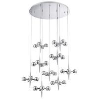 EuroFase 26233-017 Pearla LED 40 inch Chrome Chandelier Ceiling Light