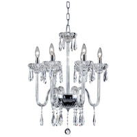 Villa 6 Light 22 inch Chrome Chandelier Ceiling Light