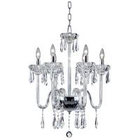 EuroFase 26237-015 Villa 6 Light 22 inch Chrome Chandelier Ceiling Light