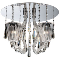 Corato 4 Light 18 inch Chrome Flush Mount Ceiling Light
