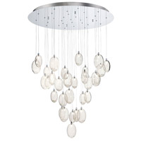 EuroFase Chrome Glass Chandeliers