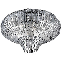 EuroFase 26328-010 Monica 6 Light 20 inch Chrome Flush Mount Ceiling Light