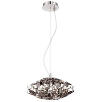 EuroFase 26332-017 Grace 3 Light 14 inch Polished Nickel Chandelier Ceiling Light