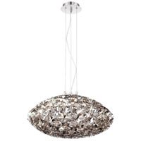Grace 6 Light 24 inch Nickel Chandelier Ceiling Light