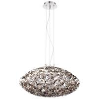 EuroFase 26333-014 Grace 6 Light 24 inch Nickel Chandelier Ceiling Light