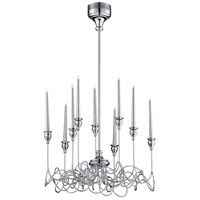 Candela 9 Light 23 inch Polished Chrome Chandelier Ceiling Light