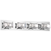 Uzo 4 Light 32 inch Chrome Bath Bar Wall Light