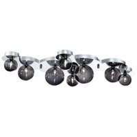 EuroFase 26355-016 Grappa 8 Light 15 inch Chrome Flush Mount Ceiling Light
