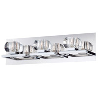 Casa 3 Light 19 inch Chrome Bath Bar Wall Light
