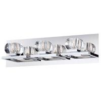 EuroFase 26357-010 Casa 3 Light 19 inch Chrome Vanity Light Wall Light