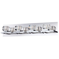 Casa 4 Light 26 inch Chrome Bath Bar Wall Light