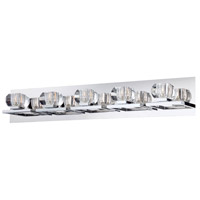 Casa 5 Light 32 inch Chrome Bath Bar Wall Light