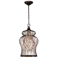 Fanta 10 Light 16 inch Bronze Chandelier Ceiling Light