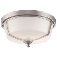 EuroFase 26636-016 Kate LED 12 inch Satin Nickel Flush Mount Ceiling Light