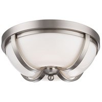EuroFase 26637-013 Andrew LED 13 inch Satin Nickel Flush Mount Ceiling Light