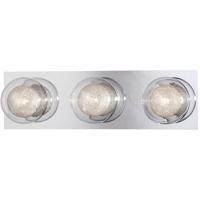 EuroFase 27201-015 Cambria 3 Light 17 inch Chrome Vanity Light Wall Light
