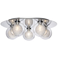 EuroFase 28016-014 Cambria 5 Light 16 inch Chrome Flush Mount Ceiling Light